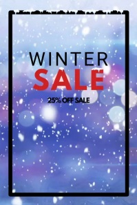Winter Sale video snow flakes advert promo