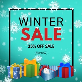 Winter Sale video snow flakes advert promo store retail