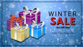 Winter Sale video snow flakes promo store retail christmas