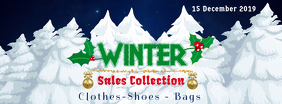 Winter Sales Collection Facebook Cover Template