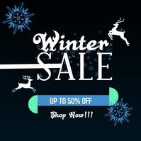 winter sales Wpis na Instagrama template
