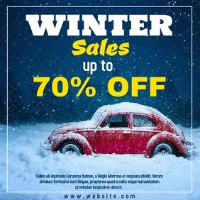 winter sales instagram post 70%off