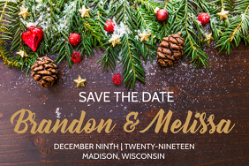 Winter Save the Date Wedding Announcement