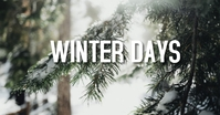 WINTER SAYS PINE TREES Anuncio de Facebook template