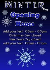 winter season open days and closed hours