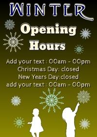winter season opening hours open days