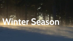 Winter Season poster template Видеообложка профиля Facebook (16:9)