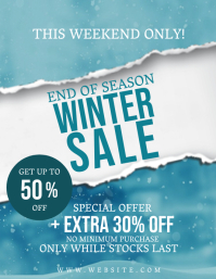 Winter Season Sale Flyer Template