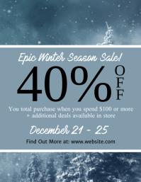 Winter Season Sale Flyer Template