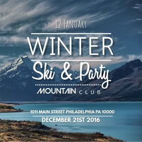 Winter Ski Party Video Template