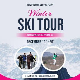 Winter Skiing Ad Square Video template