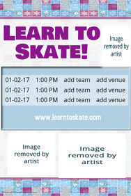 Winter Snow Ice Skating Schedule Poster Template Flyer