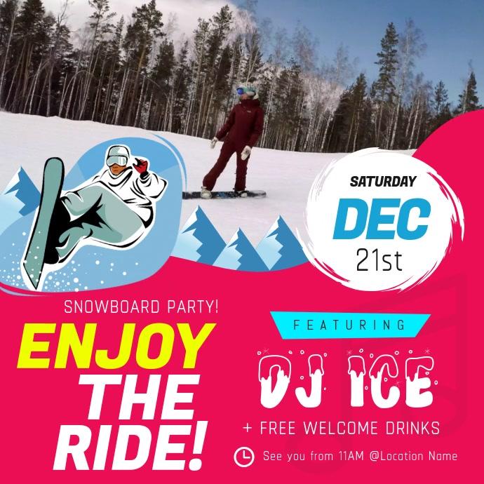 Winter Sports Snowboarding Square Video