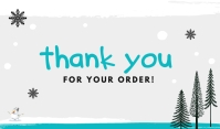 Winter Thank You For Your Order Templates Etiqueta