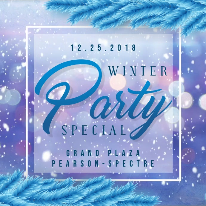 Winter themed Club Party Invitation Ad