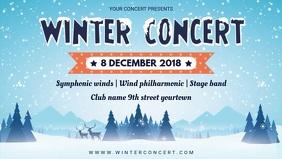 Winter themed Concert Facebook Banner Video