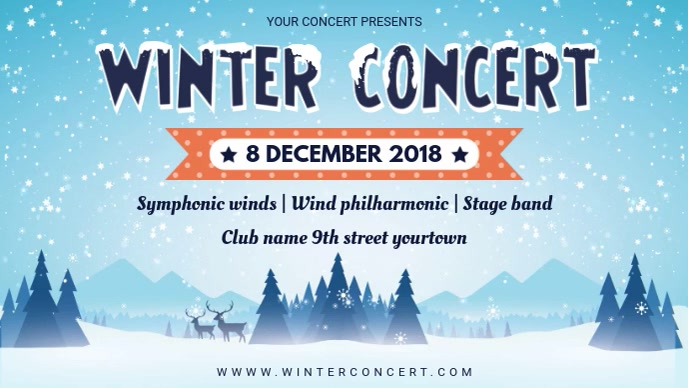 Winter themed Concert Facebook Banner Video