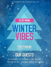 Winter Vibes Club /Party Event Flyer Template