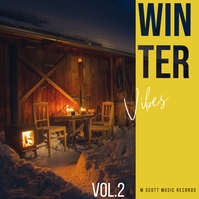 Winter vibes snow album cover art 2 Albumhoes template