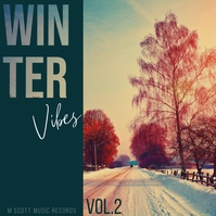 Winter vibes snow album cover art Albumhoes template