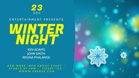 Winter Video Facebook Cover Template