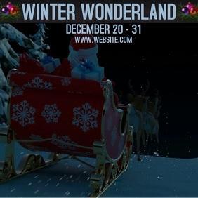 WINTER WONDERLAND ad digital video template