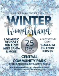 WINTER WONDERLAND Flyer (US Letter) template