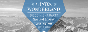 Winter Wonderland Disco Party Facebook Cover Template