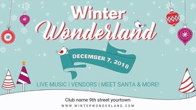 Winter Wonderland Event Facebook Banner Video