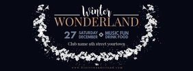 Winter Wonderland Facebook Banner Design