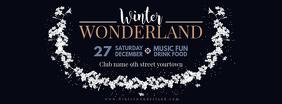 Winter Wonderland Facebook Banner Design template