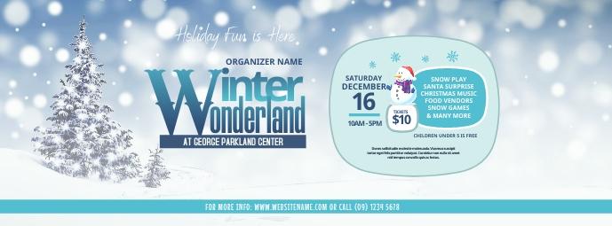 Winter Wonderland Facebook Cover Photo template