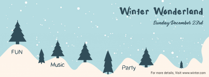 Winter Wonderland Facebook Cover Template