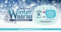 Winter Wonderland Facebook Shared Image Isithombe Esabiwe ku-Facebook template