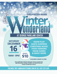 Winter Wonderland Flyer template