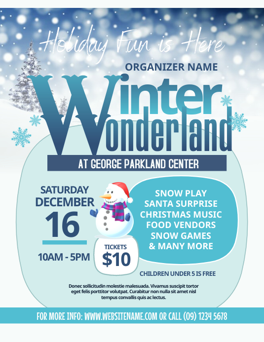 Winter Wonderland Flyer template