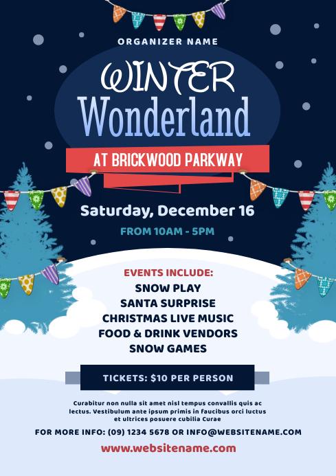 Winter Wonderland Flyer A4 template