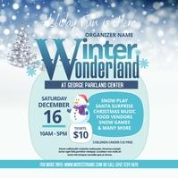 Winter Wonderland Instagram Post template