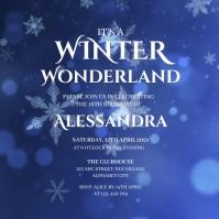 Winter Wonderland Invitation Square (1:1) template