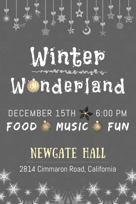 Winter Wonderland Poster Template