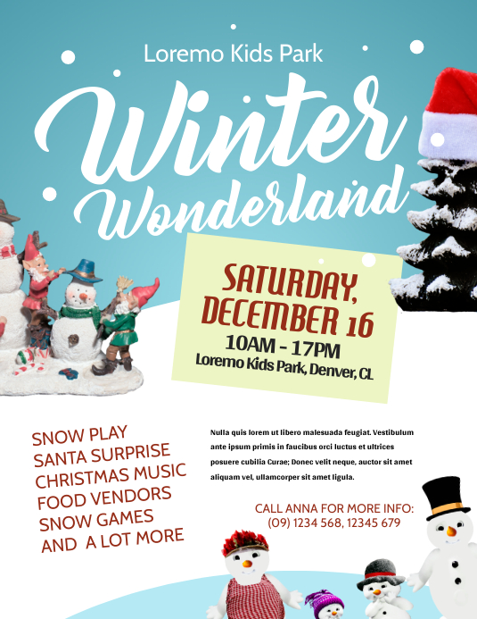Winter Wonderland Flyer Template  Postermywall