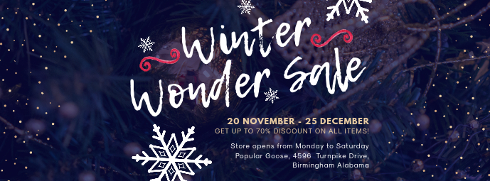 Winter Wonderland Sale Banner Design