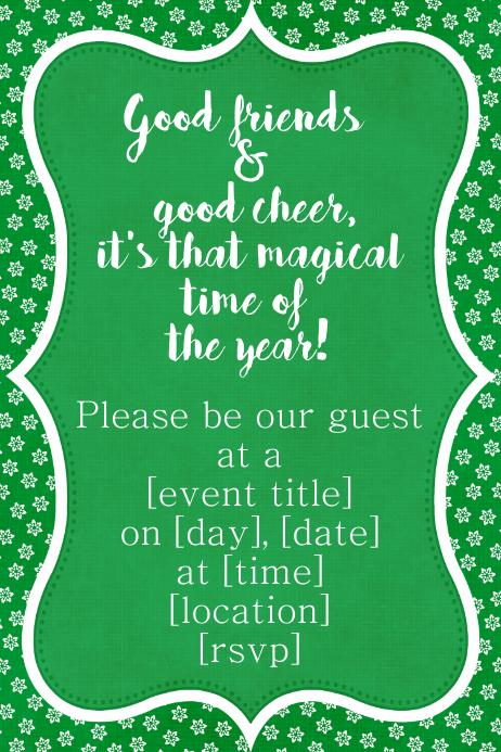 Winter Wonderland Snow Dance Dinner Event flyer Christmas