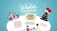 Winter Wonderland Twitter Post template