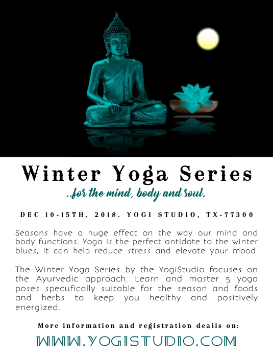 winter yoga workshop Flyer