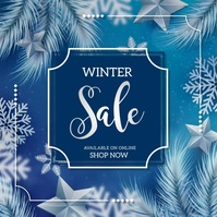 winters ,winter retail, sale Vierkant (1:1) template