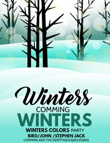 winters flyers,event flyers,Christmas flyers
