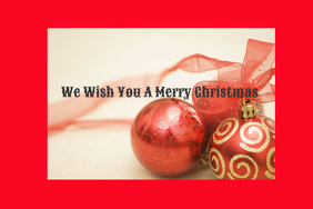 wish merry christmas Poster template