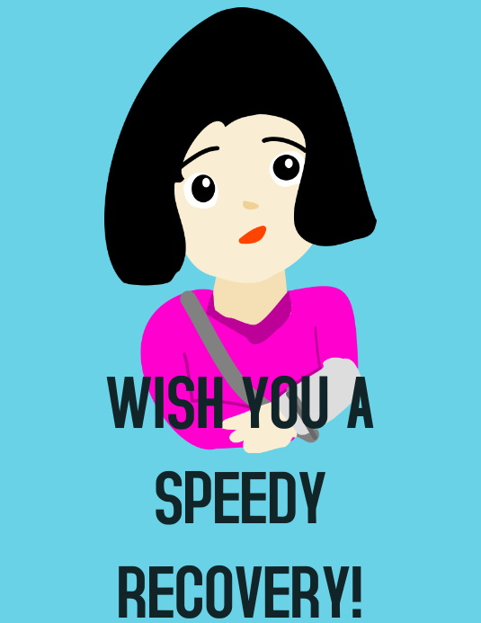 Wish you a speedy recovery poster