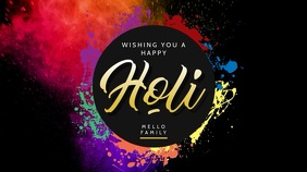 Wishing a Happy Holi Video